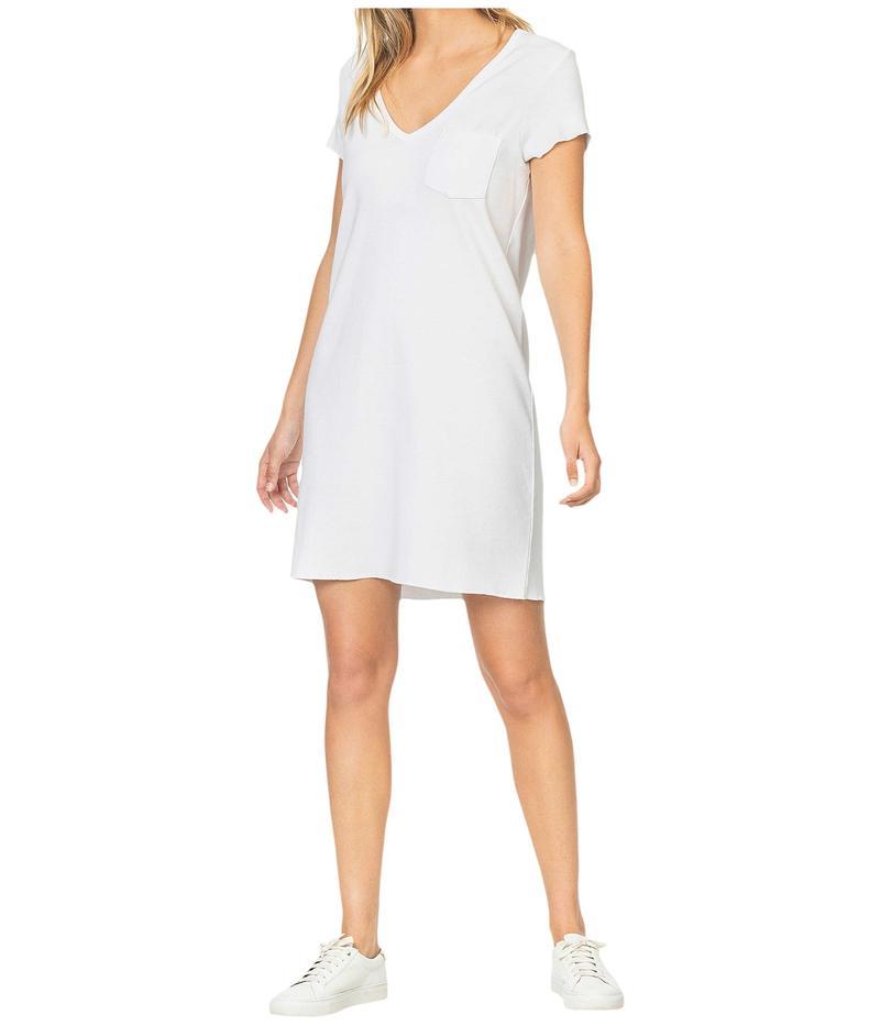 リラピー レディース ワンピース トップス V-Neck Dress in 100% Cotton White