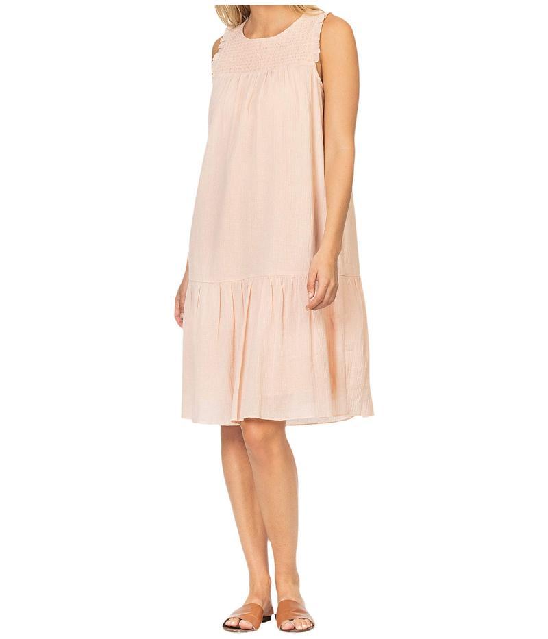リラピー レディース ワンピース トップス Woven Gauze Smocked Dress Pale Blush