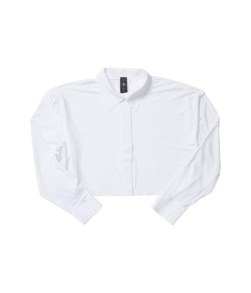 カマリカルチャー レディース シャツ トップス Oversized Boyfriend Cropped NK Shirt White