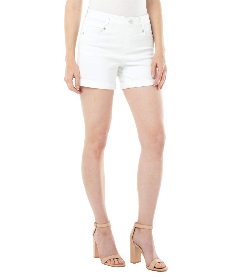 リバプール レディース ハーフパンツ・ショーツ ボトムス Gia Glider Rolled Shorts Bright White