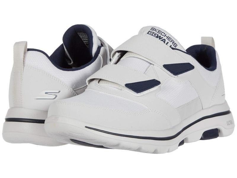 スケッチャーズ メンズ スニーカー シューズ Go Walk 5 - Wistful White/Navy