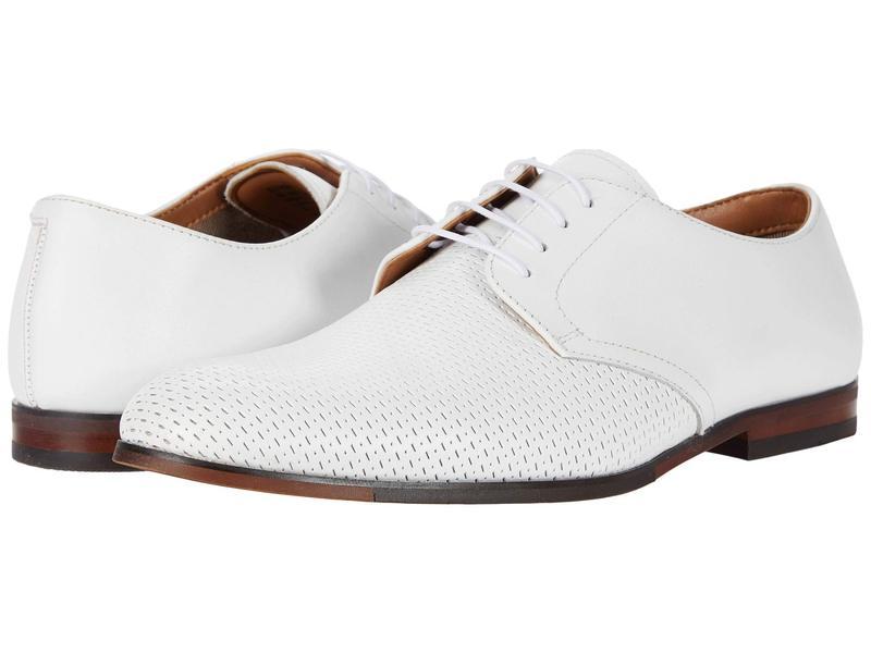 スティーブ マデン メンズ オックスフォード シューズ Elixer Oxford White Leather