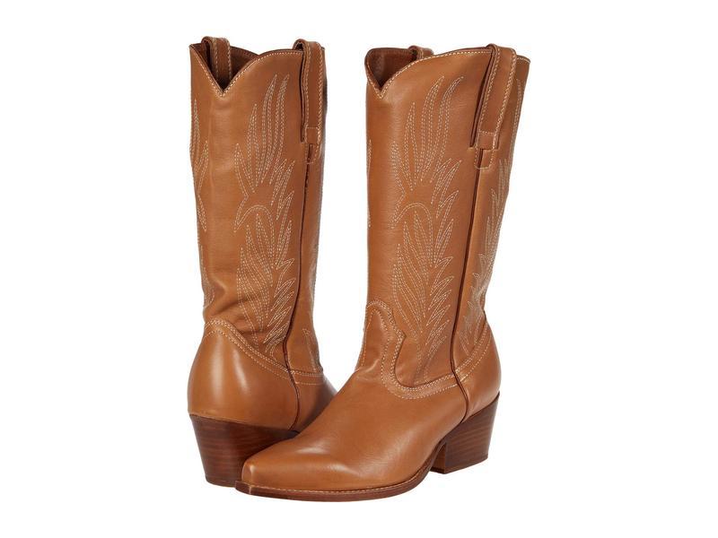 スティーブ マデン レディース ブーツ・レインブーツ シューズ Cowboy Western Boot Tan Leather