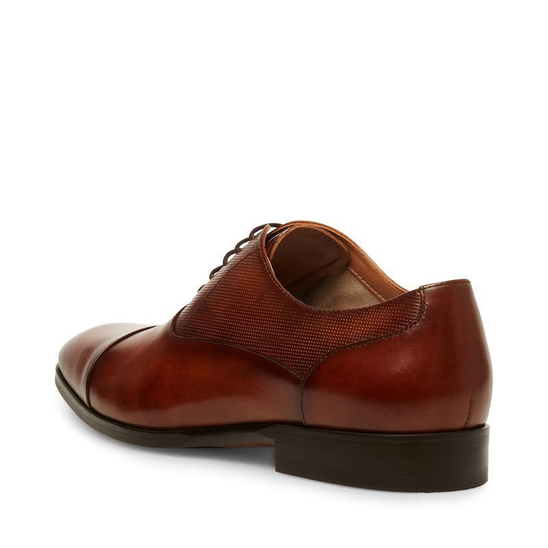 スティーブ マデン メンズ オックスフォード シューズ Private Tan Leather