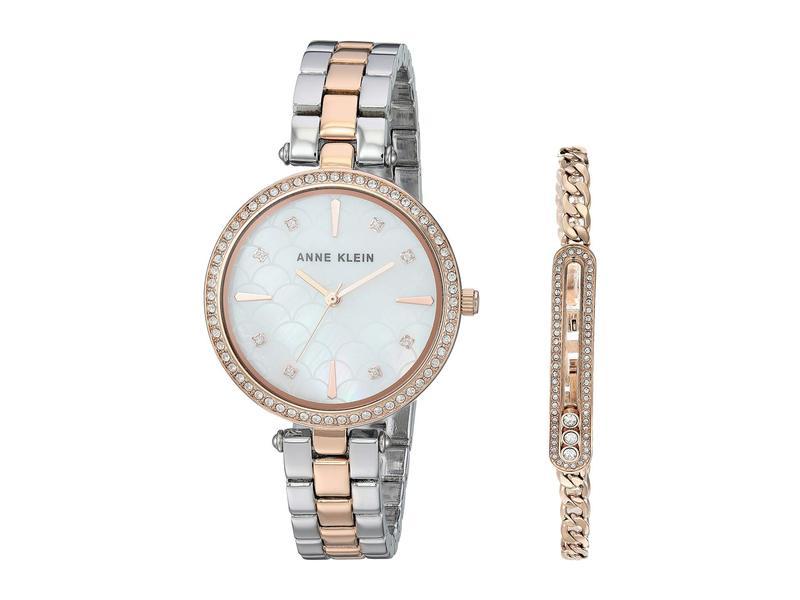 アンクライン レディース 腕時計 アクセサリー Two-Tone Watch and Bracelet Set Silver/Rose Gol