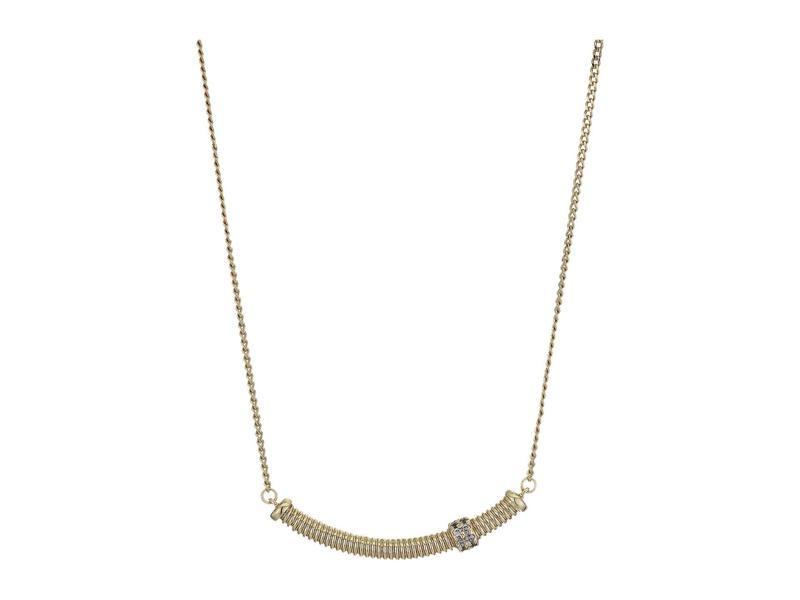 オールセインツ レディース ネックレス・チョーカー・ペンダントトップ アクセサリー Bolt Pendant Necklace Crystal/Gold