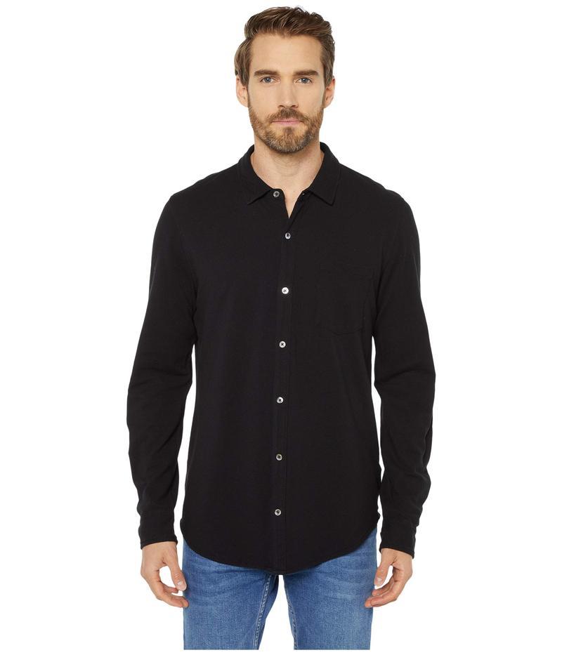 モッドドック メンズ シャツ トップス Windandsea Long Sleeve Button Front Shirt Black