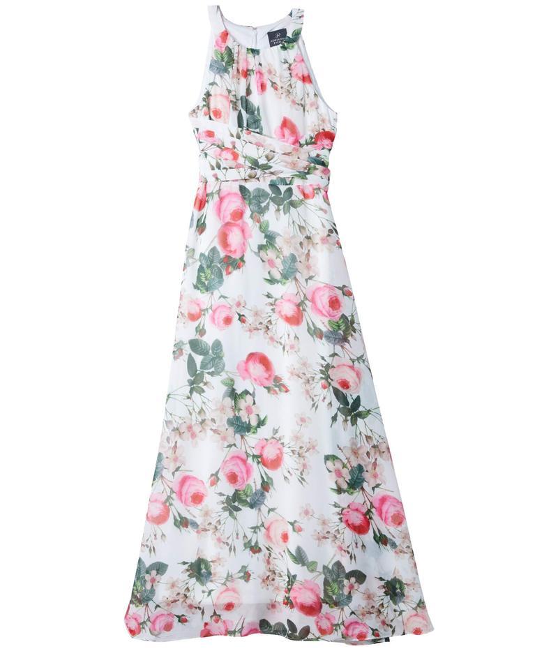 アドリアナ パペル レディース ワンピース トップス Rose Magnolia Chiffon Midi Halter Dress Pink Multi
