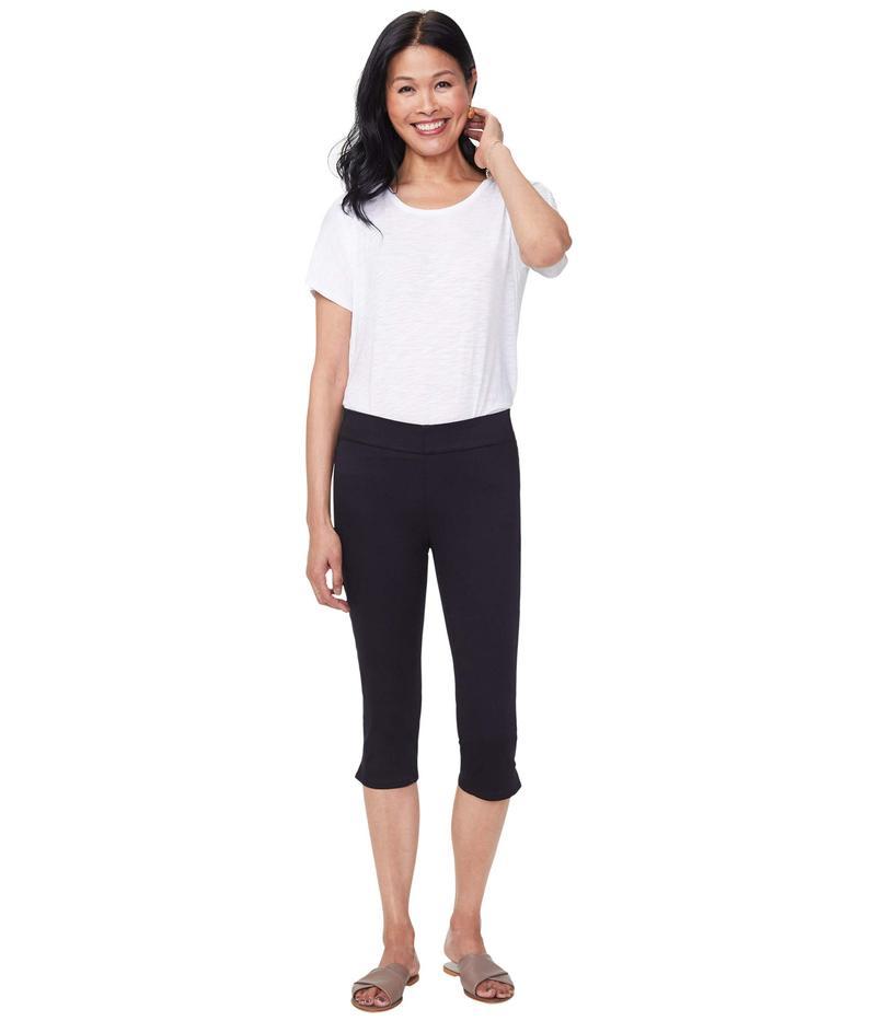 エヌワイディージェイ レディース デニムパンツ ボトムス Skinny Pull-On Capri Jeans in Black Black