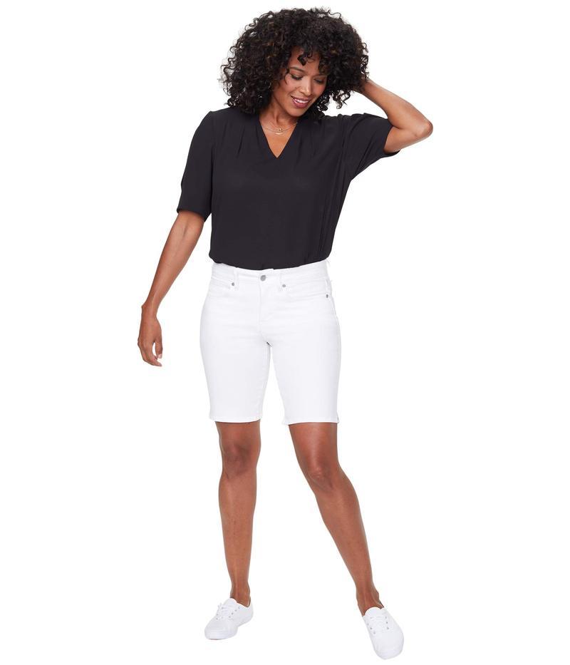 エヌワイディージェイ レディース ハーフパンツ・ショーツ ボトムス Ella Shorts with Side Slits Optic White
