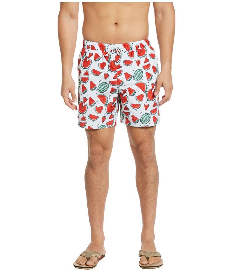 オリジナルペンギン メンズ ハーフパンツ・ショーツ 水着 Packable Watermelon Print Swim Shorts Ballad Blue