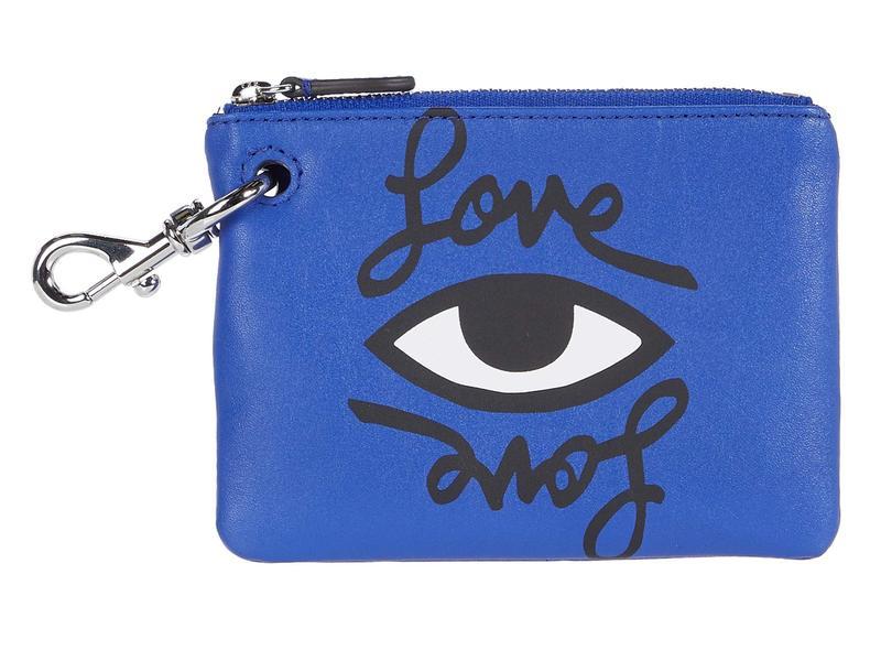 レベッカミンコフ レディース 財布 アクセサリー Clip Pouch - Love Eye Bright Blue