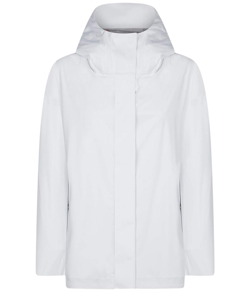 セイブ ザ ダック レディース コート アウター Bark X Long Hooded Jacket White