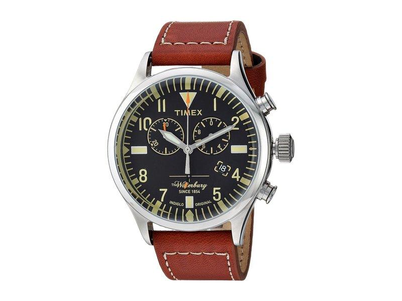 タイメックス メンズ 腕時計 アクセサリー Waterbury Traditional Chrono Brown/Black