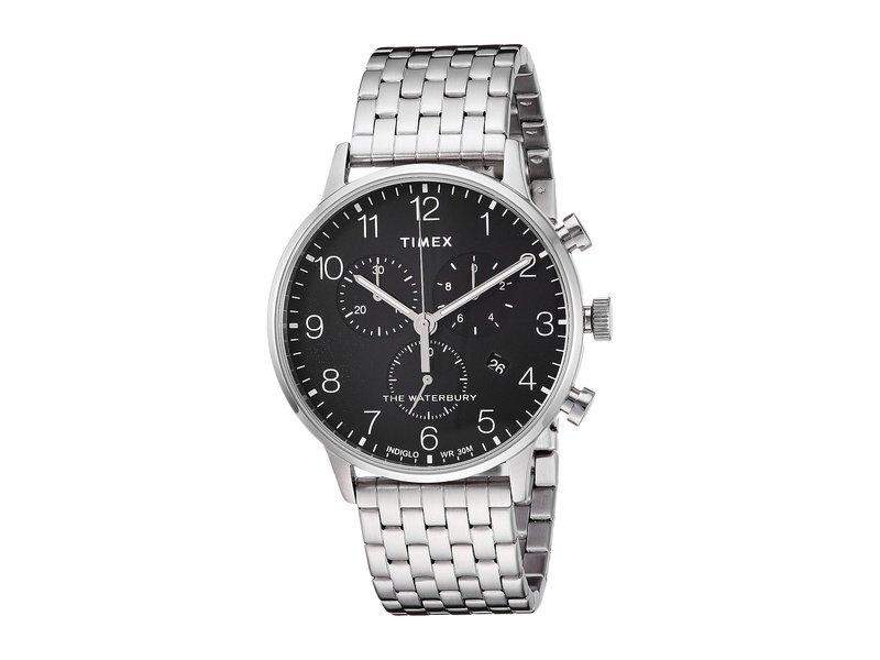 タイメックス メンズ 腕時計 アクセサリー Waterbury Classic Chrono Stainless Steel Silver/Black
