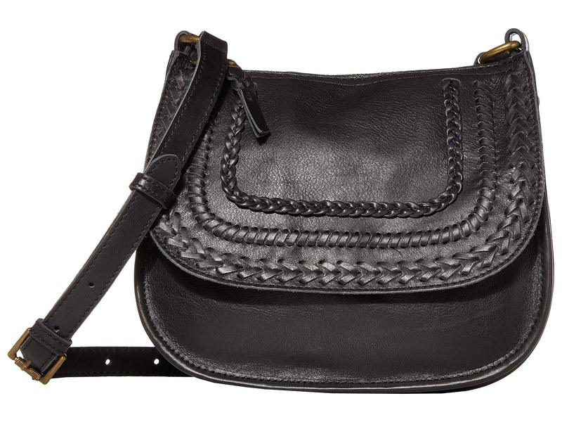 ザサック レディース ハンドバッグ バッグ Playa Leather Saddle Bag Black Braid