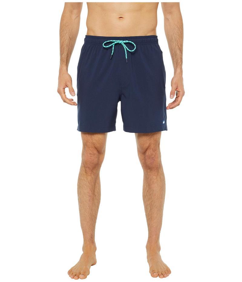 サウザーンタイド メンズ ハーフパンツ・ショーツ 水着 Solid Swim Trunks True Navy