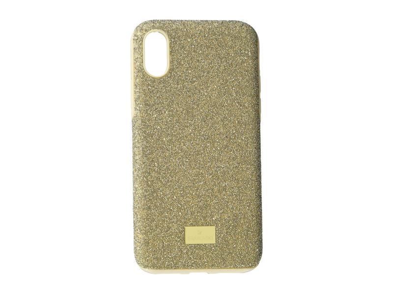 スワロフスキー レディース PC・モバイルギアケース アクセサリー High Smartphone Case with Bumper, iPhone X/Xs Gold