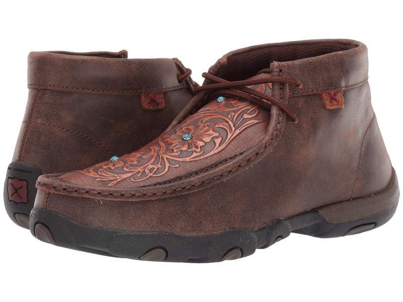ツイステッドエックス レディース ブーツ・レインブーツ シューズ WDM0081 Brown/Tooled Fl