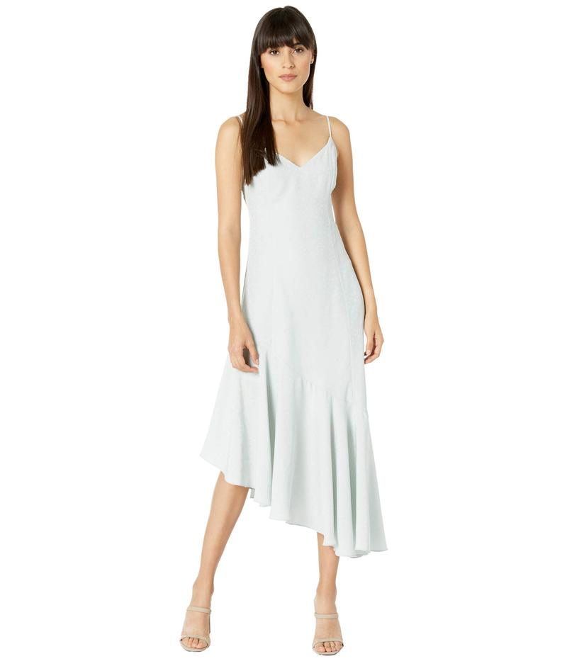 ワイフ レディース ワンピース トップス Clayton Asymmetrical Ruffle Slip Dress Azure Blue Leop