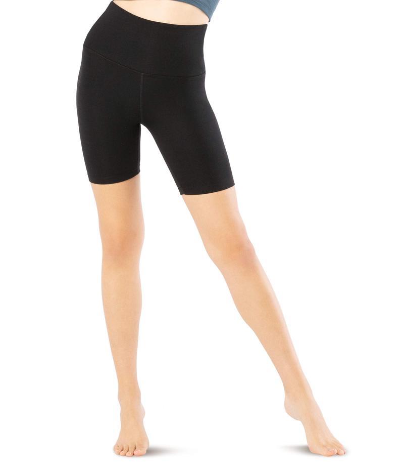 ビヨンドヨガ レディース ハーフパンツ・ショーツ ボトムス Heather Rib High Waisted Biker Shorts Black Heather