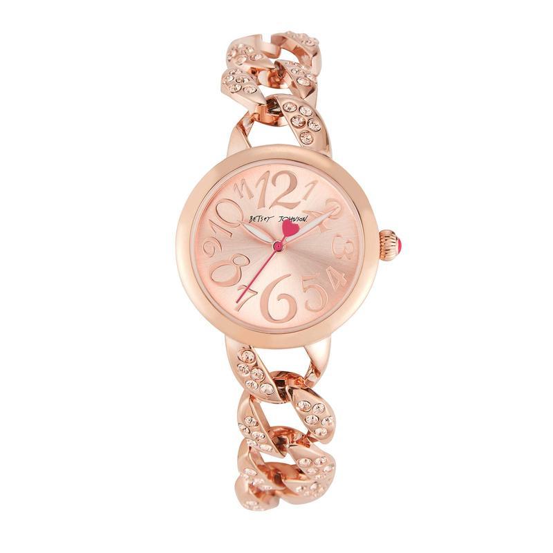 ベッツィジョンソン レディース 腕時計 アクセサリー Little Links Watch Rose Gold