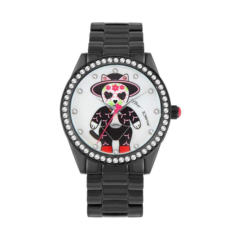 ベッツィジョンソン レディース 腕時計 アクセサリー Mariachi Cat Watch Black