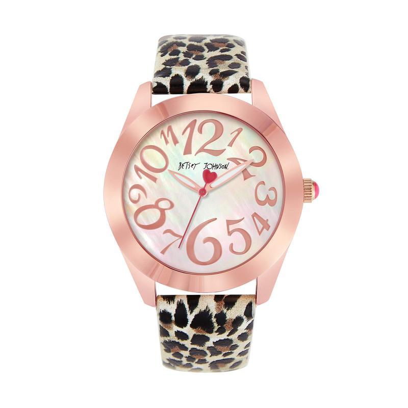 ベッツィジョンソン レディース 腕時計 アクセサリー Wild Betsey Watch Cheetah