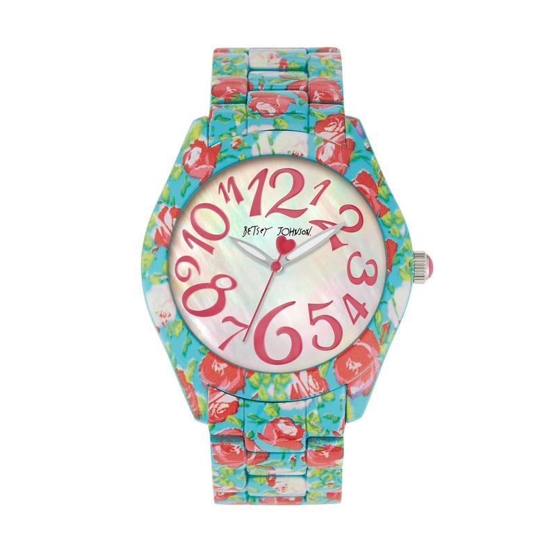 ベッツィジョンソン レディース 腕時計 アクセサリー Printed Rose Watch Blue