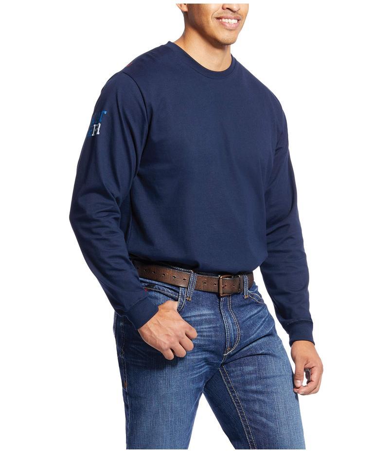 アリアト メンズ シャツ トップス FR Americana Graphic T-Shirt Navy