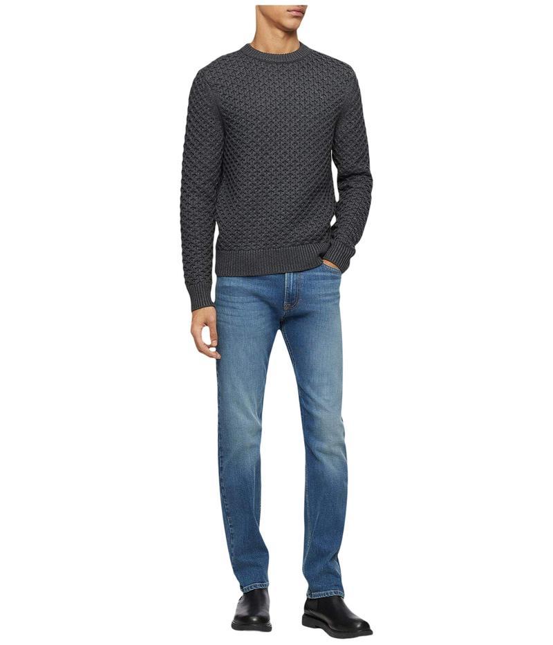 カルバンクライン メンズ ニット・セーター アウター Wool Blend Sweater Gunmetal Heathe