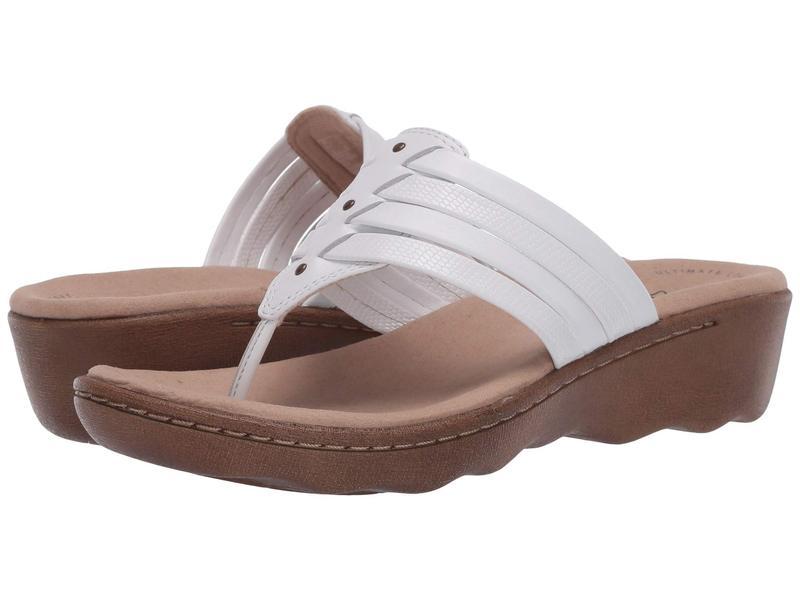 クラークス レディース ヒール シューズ Phebe Carman White Leather/S