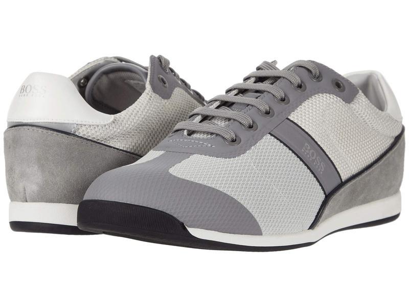 ヒューゴボス メンズ スニーカー シューズ Glaze Low Profile Sneakers Medium Grey