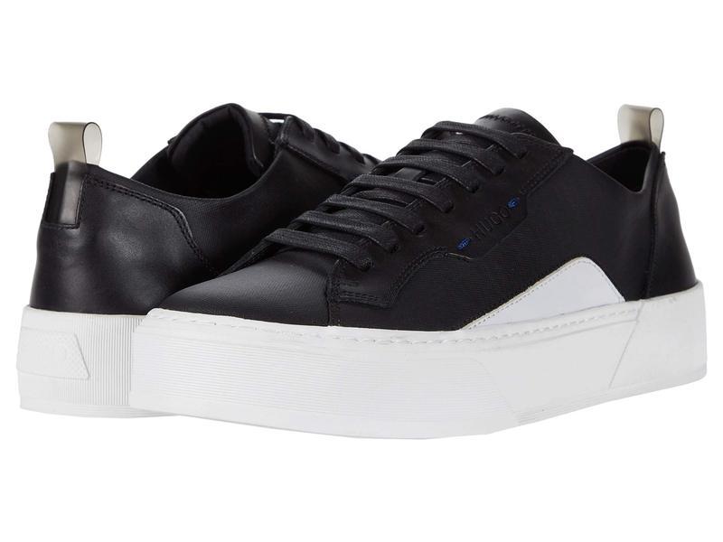 ヒューゴボス メンズ スニーカー シューズ Volcano Low Top Sneaker by HUGO Black