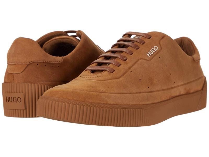 ヒューゴボス メンズ スニーカー シューズ Zero Low Top Sneaker by HUGO Medium Brown