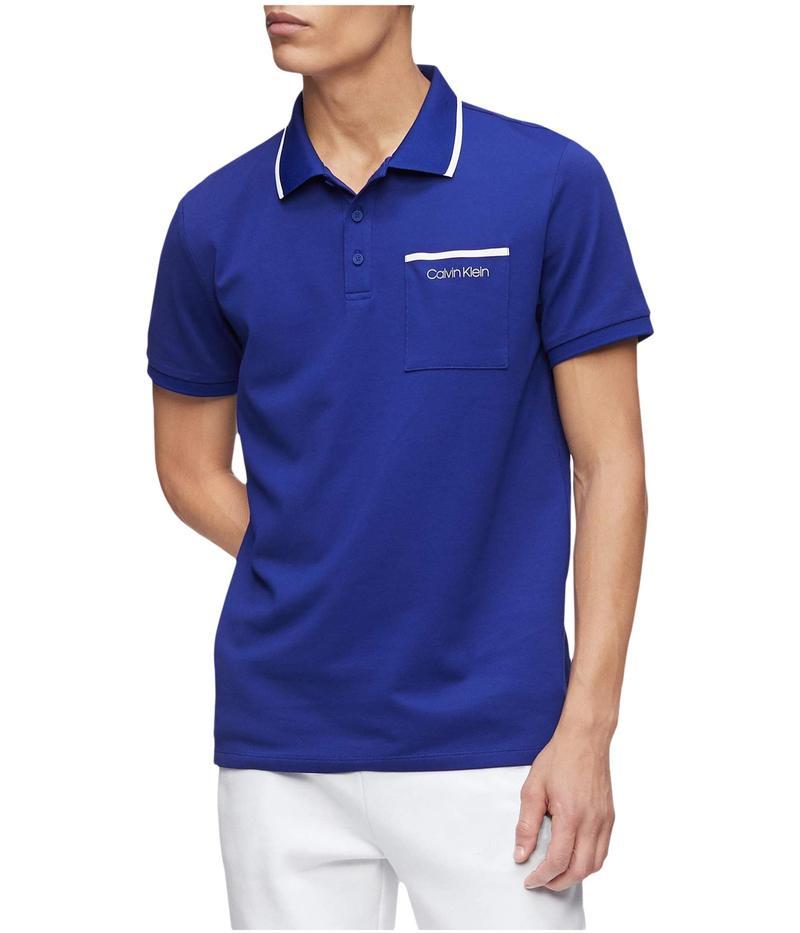 カルバンクライン メンズ シャツ トップス Move 365 Short Sleeve Pocket Polo Quick Dry & Moisture Wicking Features Kinetic