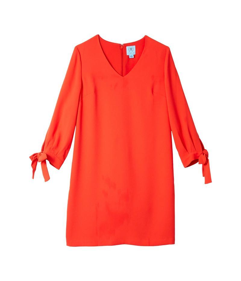 セセ レディース ワンピース トップス 3/4 Tie Sleeve V-Neck Dress Candy Apple