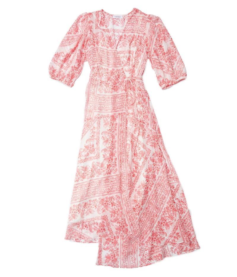 カルバンクライン レディース ワンピース トップス Paisley Print Chiffon Dress with Surplus Neck Watermelon Mult