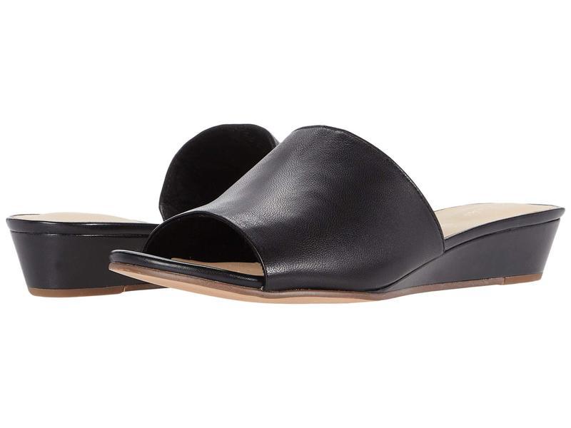 クラークス レディース ヒール シューズ Sense Slide Black Leather