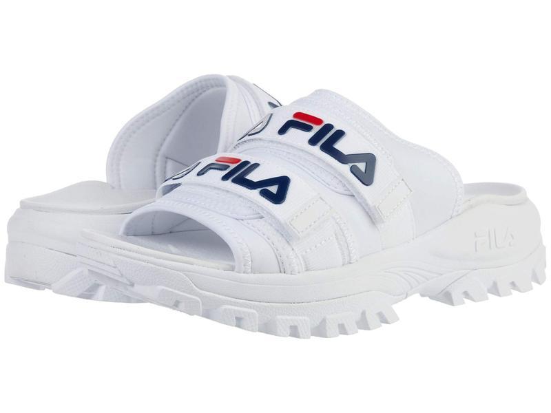 フィラ レディース サンダル シューズ Outdoor Slide White/Fila Navy