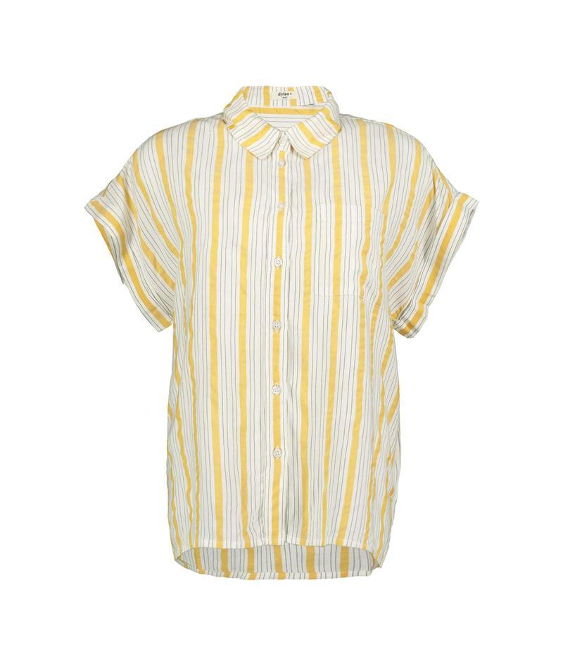 デイランバイトゥルーグリット レディース シャツ トップス Chelsea Short Sleeve One-Pocket Shirt White/Sun