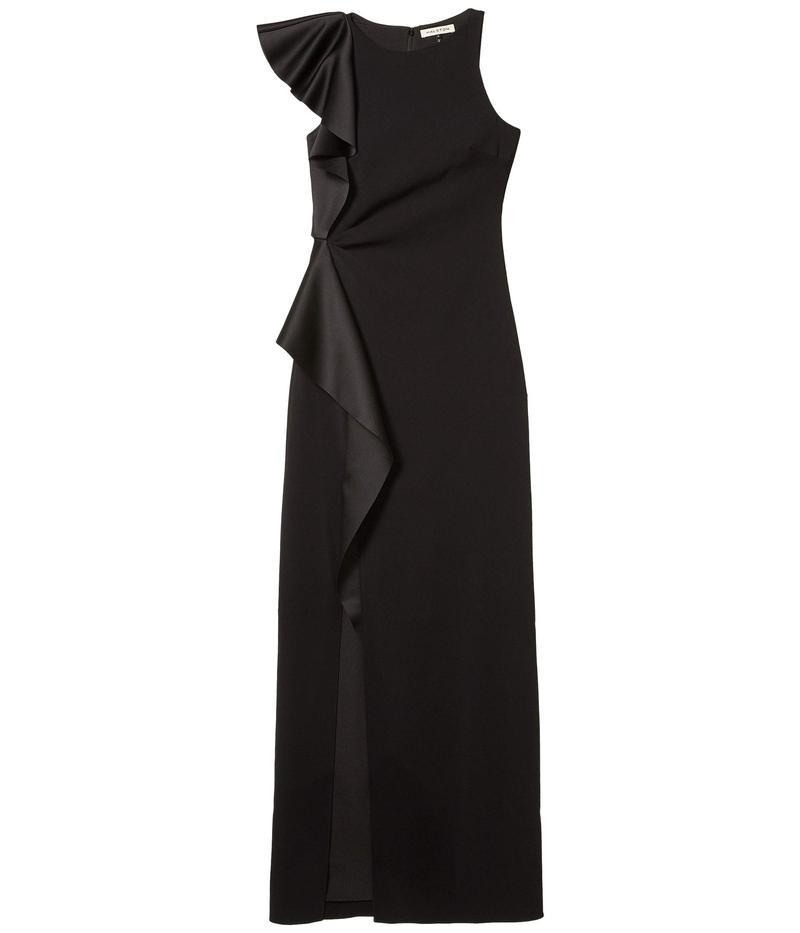 ホルストンヘリテイジ レディース ワンピース トップス Asymmetric Flounce Gown Black