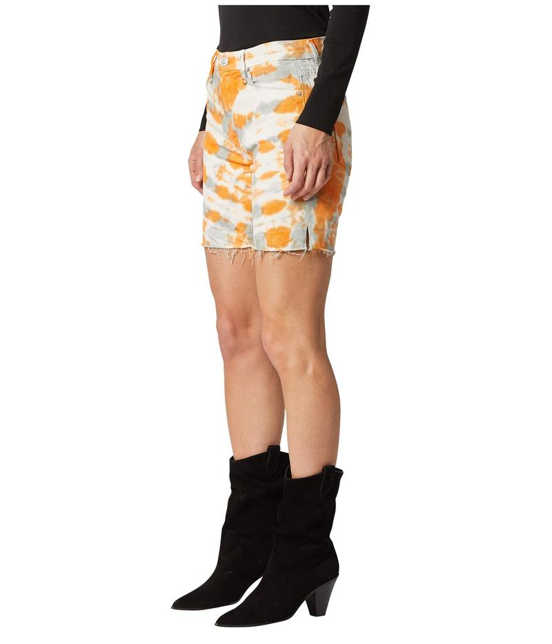 ハドソンジーンズ レディース ハーフパンツ・ショーツ ボトムス Hana Mini Biker Shorts in Magnetic Tangerine Magnetic Tanger
