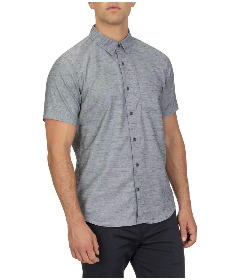 ハーレー メンズ シャツ トップス Dri-FIT¢ Marwick Stretch Short Sleeve Woven Shirt Dark Smoke Grey