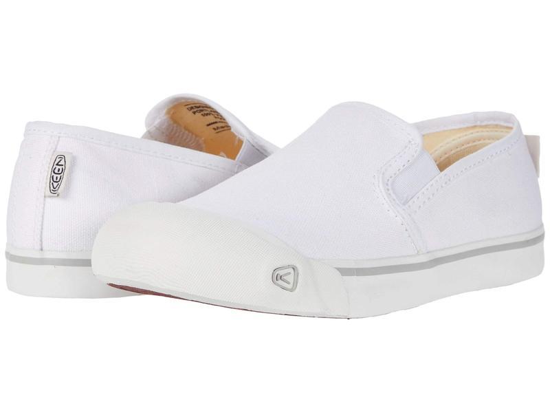 キーン レディース スニーカー シューズ Coronado III Slip-On White