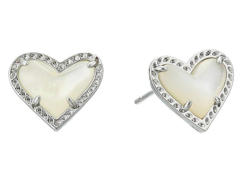 ケンドラスコット レディース ピアス・イヤリング アクセサリー Ari Heart Stud Earrings Rhodium Ivory M