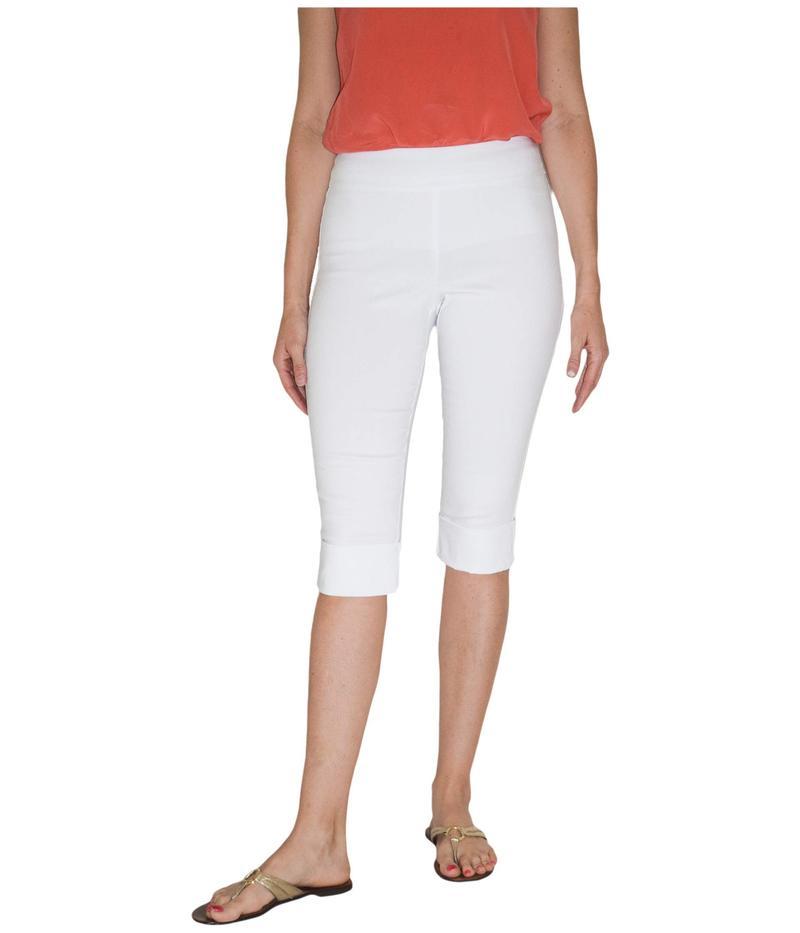 クレイジーラリー レディース カジュアルパンツ ボトムス Pull-On Cuffed Crop Pants White