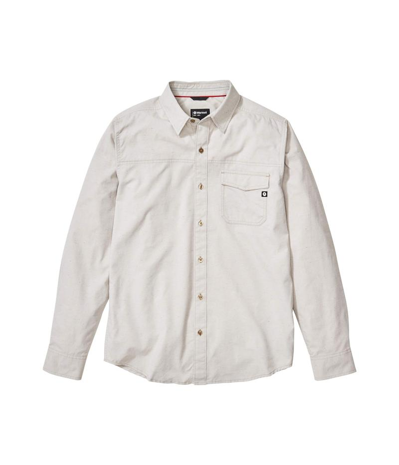 マーモット メンズ シャツ トップス Tumalo Long Sleeve Shirt Light Khaki