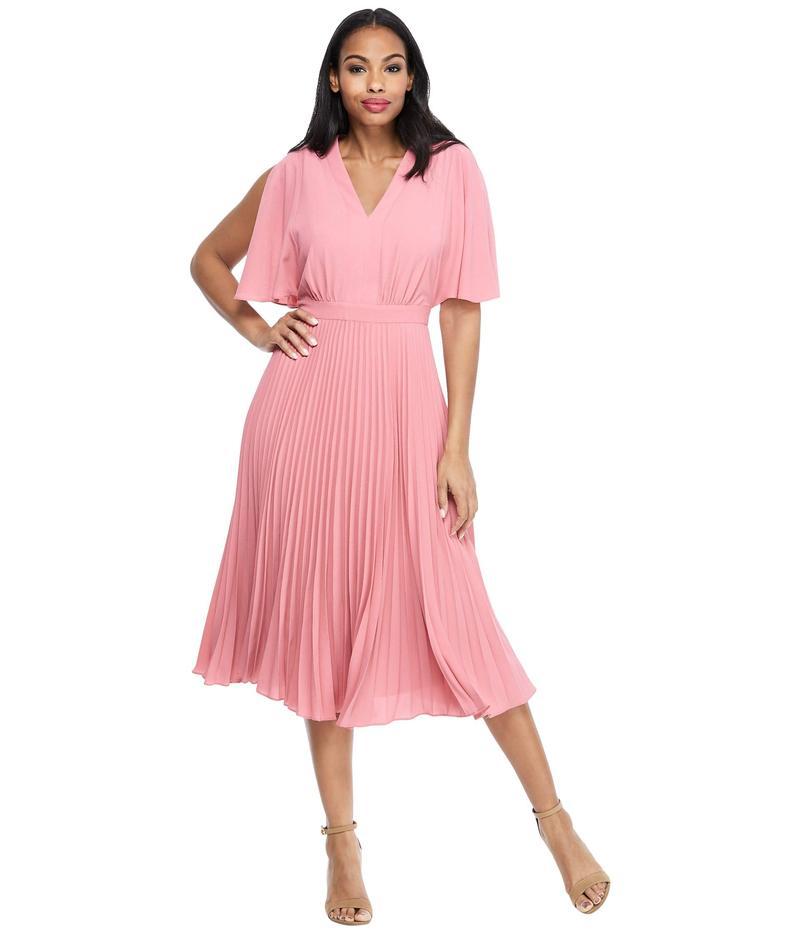 マギーロンドン レディース ワンピース トップス Split Sleeve Pleated Skirt Dress Rose