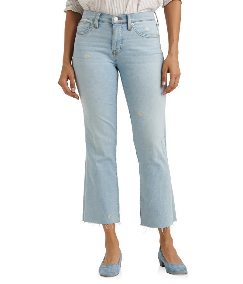 ラッキーブランド レディース デニムパンツ ボトムス Mid-Rise Ava Crop Mini Bootcut Jeans in Sevia Sevia
